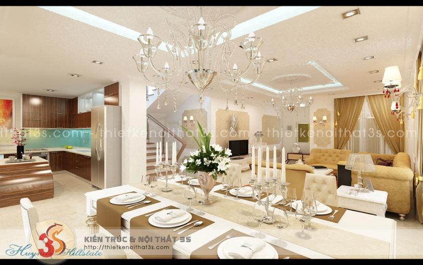 Phòng khách được thiết kế hài hòa