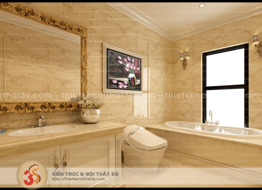 Phòng tắm hoàng gia - Nơi thư giãn tuyệt vời