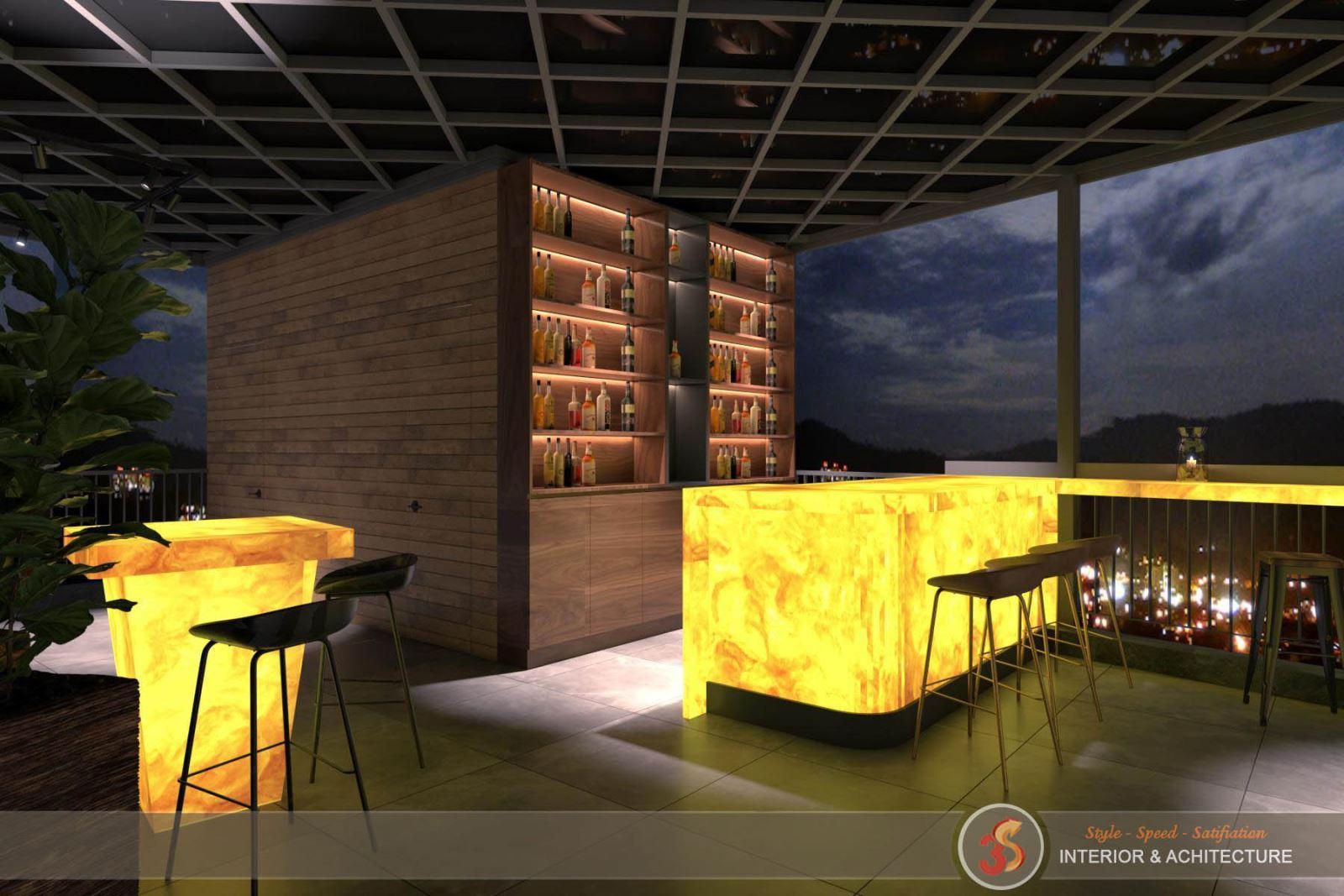 Phòng ăn đẹp hoàn hảo về đêm