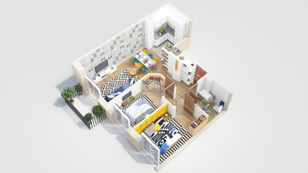 Things can get a bit cramped in a two bedroom, but as long as everyone has good boundaries it can still be a good option for roommates or couples.