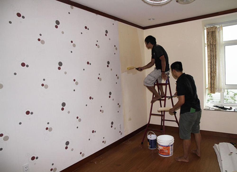 Kết quả hình ảnh cho cách thi công giấy dán tường
